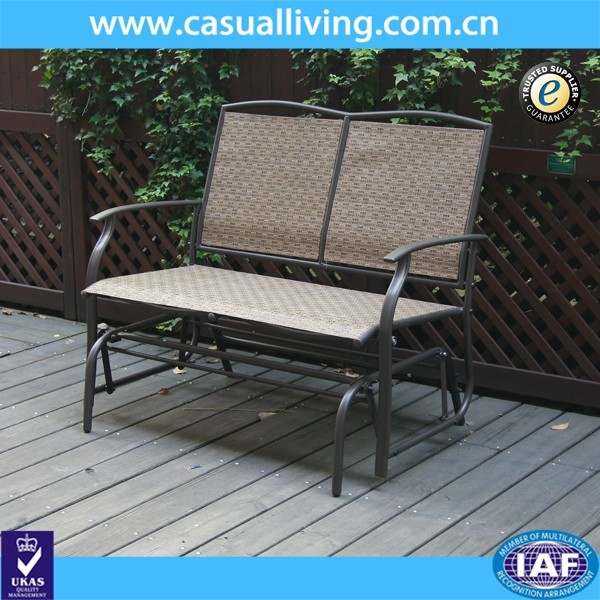 Sensational 2 Seater Cast Aluminum Rocking Chair Loveseat Glider Bench In Sling Fabric Seat Back For Patio Outdoor Garden Bench Buy Glider Bench Outdoor Garden Customarchery Wood Chair Design Ideas Customarcherynet