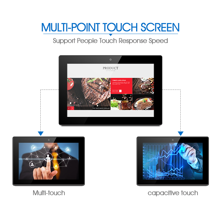 Rj45/wifi 15.6 inch wall mount android tablet poe