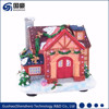 Xmas decoration beautiful fiber optic Christmas village scene house model