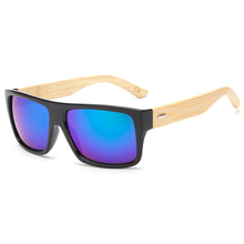 New 2015 Bamboo Sunglasses Men Wooden Sunglasses Women Brand Designer Mirror Original Wood Glasses Oculos de sol masculino AS072