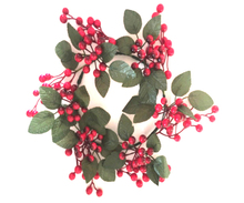Decorative artificial Flowers & Wreaths, Red berries Christmas Occasion garland