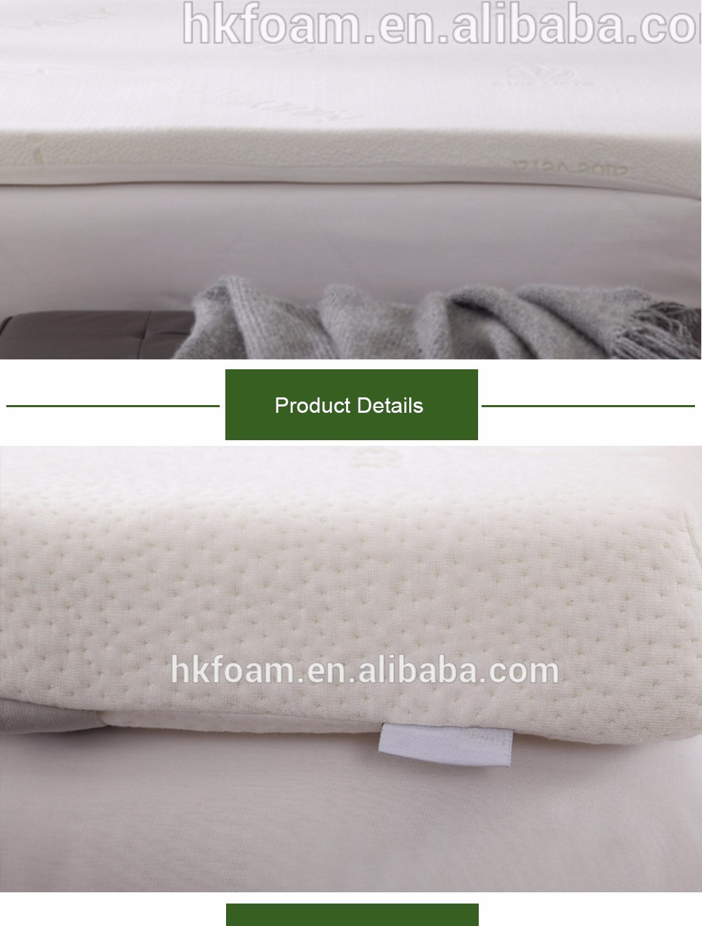 2-inch Thick Memory Foam Bed Mattress Topper