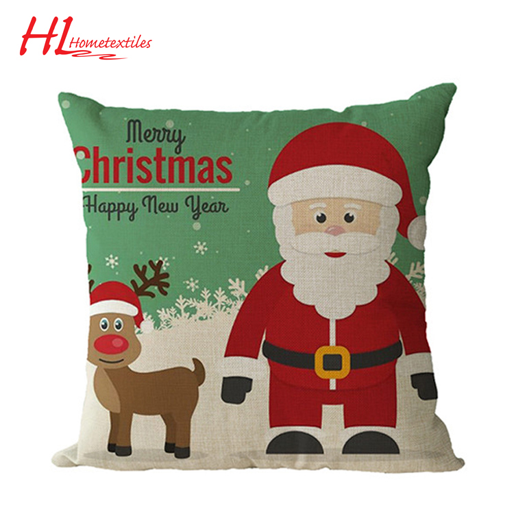 Made in china BSCI certification digital printing chair Christmas cushion,floor cushion