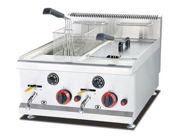 global best quality 304 stainless steel counter top gas fryer