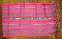stripe scarves from India