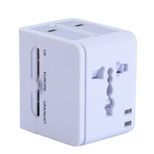 China 2017 New Products World Travel Adaptor Multi Plug With 2Usb