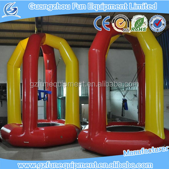 Manufacturer price hot sale high quality inflatable bungee jumping trampoline for sale