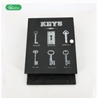 The wood wall hanging key box with lid home decoration design MDF