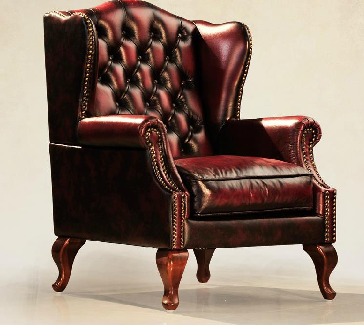 Antique Leather Wingback Chair Buy Vintage Leather Chair