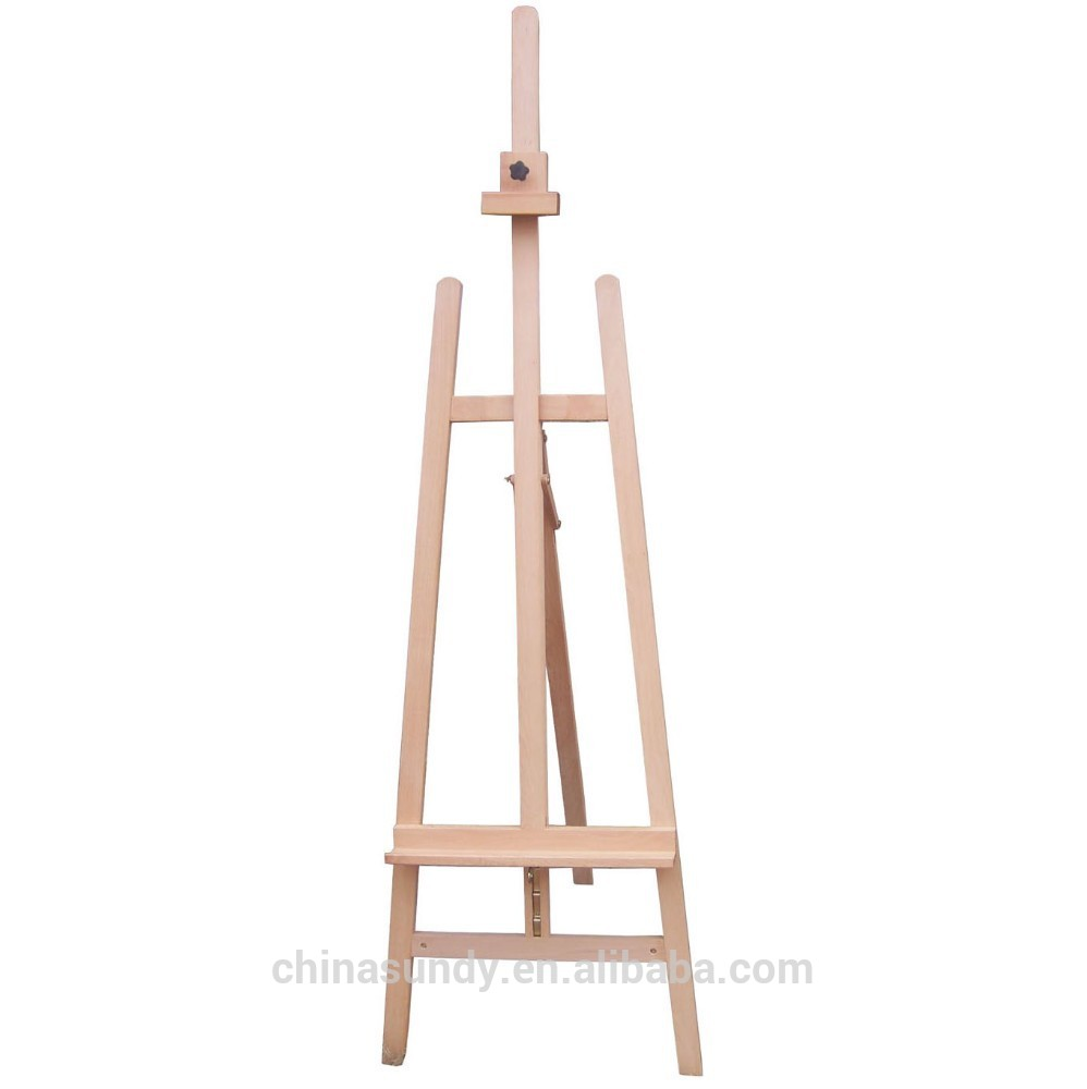 New style Sketch Pine wood upon Dismantling Easel with low price