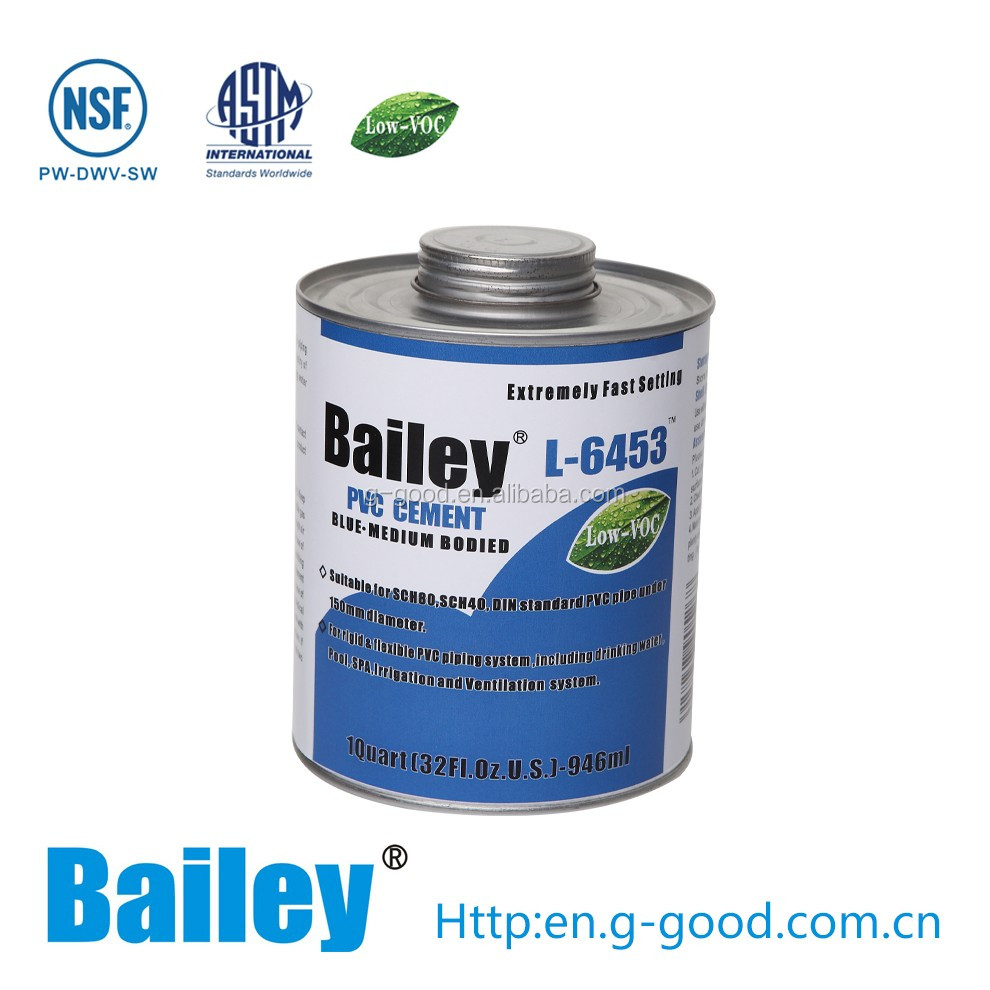 Bailey NSF LIsting L-6453 Quick Dry PVC Solvent Cement