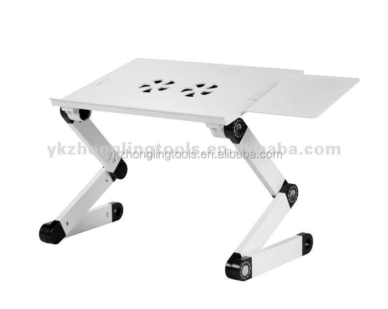 Table pliante portable pour ordinateur avec ventilateurs - Table pliante pour ordinateur portable ...