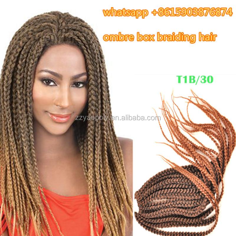 Ombre Color Senegalese Twist Braiding Hair 18 Inch T1b30 Micro Box