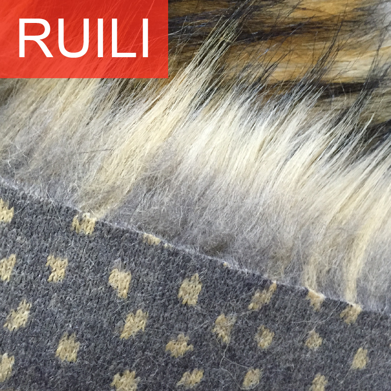 jacquard long pile faux fur artificial collar fabric