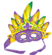 Factory CARNIVAL FIESTA PARTY HAT ACCESSORY INFLATABLE MARDI GRAS MASK