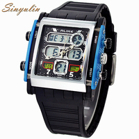 2016 Top Quality Alike Watches Men Steel BackJapan Quartz Analog Digital Famous Brand Wrist Watch