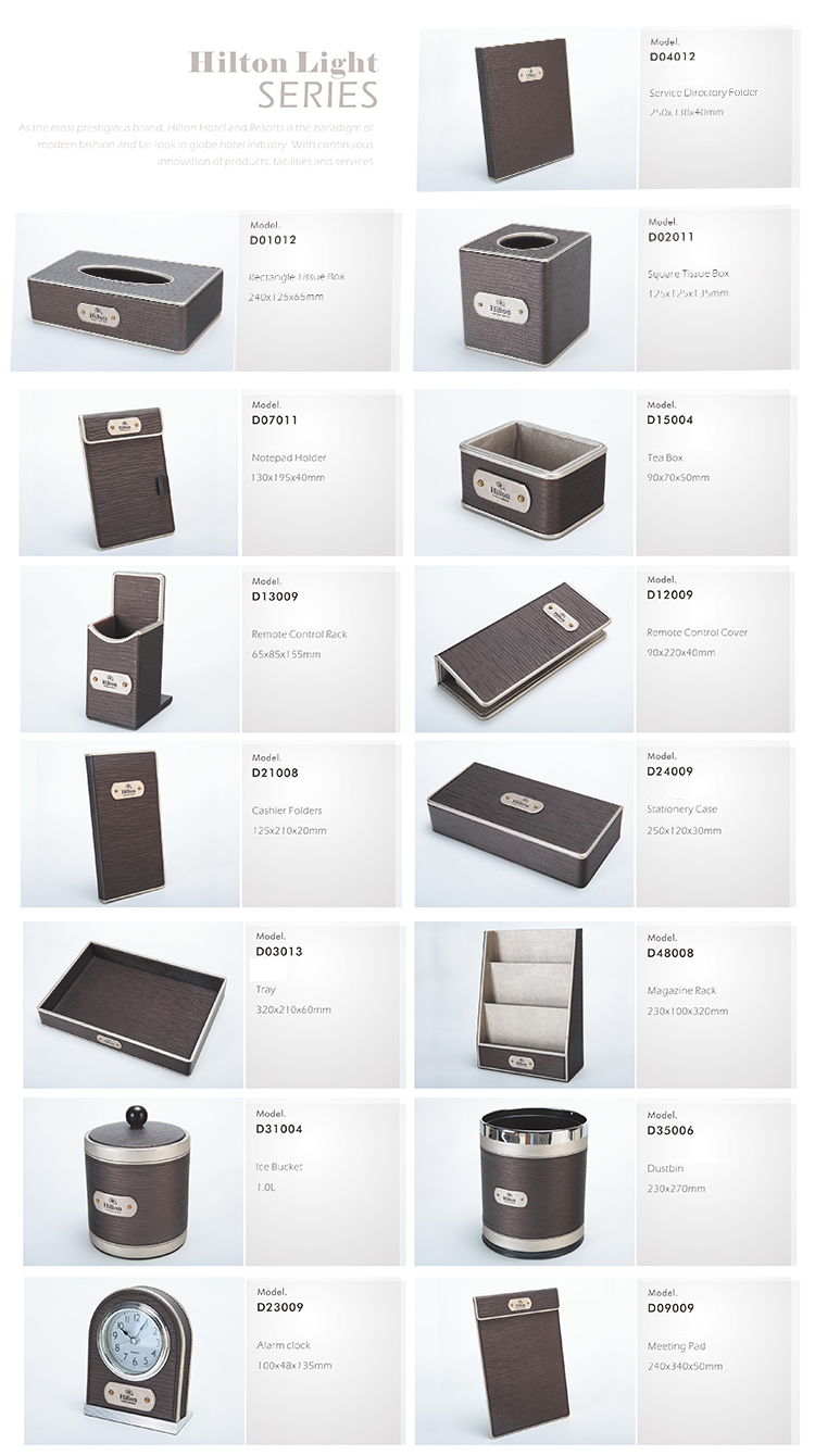 Hotel Room Accessories: Hotel Guest Room Accessories Amenities Holder Pu Leather