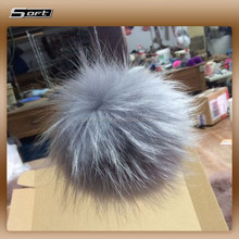 Long Hair Real Fur Dyed Raccoon Dog Balls