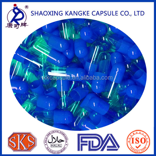 Separated Size 00 Empty Gelatin Capsule for capsule filling machines