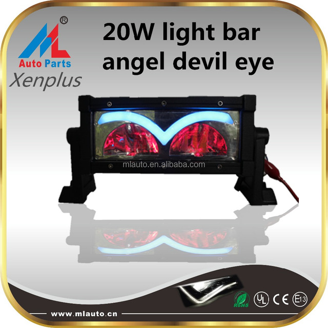 Milan angry bird L15 12-24V 20W 3000LM optional color led light bar angel devil eyes headlights for off road,4x4,truck,boat