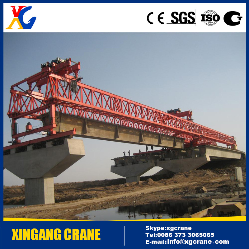 Popular Highway/Railway Construction Erection Launching Girder Crane with Trolley