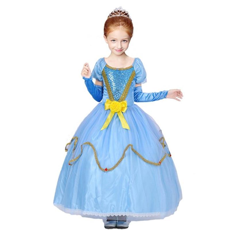 child halloween costume sofia font b dresses b font for girls kids cosplay font b fancy