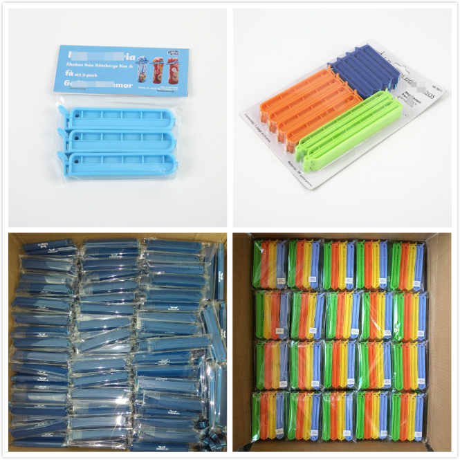 Promotional Gift 22cm Cheap Plastic Food Clips, Chip Bag Clip/