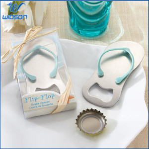 Promotional Gift Wedding Product Flip Flops Shape Beer Bottle Opener