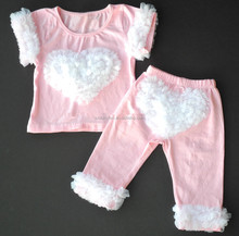 OEM boutique tenue belle bébé <span class=keywords><strong>vêtements</strong></span> volants 2 ensemble tenue