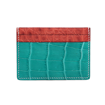 Custom Leather Gift Genuine Crocodile Leather Atm Credit Card Holder Wallet