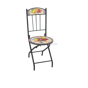 Superieur Floral U0026 Vegetable Painted Dining Chair,wrought Iron Folding Chair, Decorative Cast Iron Chairs