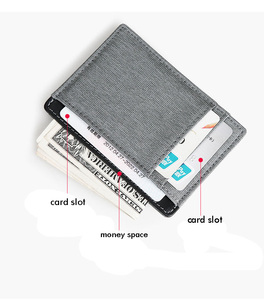 New design for Amazon canvas leather credit card holder card wallet mens