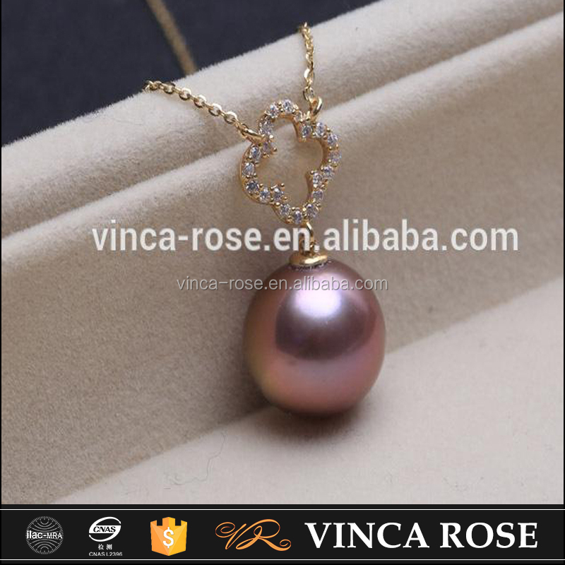 2016 Hot Selling both elegant and exquisite rose gold pearl fancy stone necklace