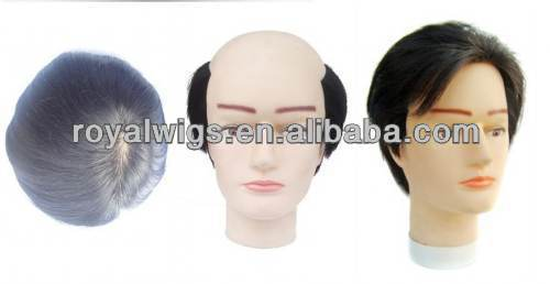 Factory Price Stock Pieces For Sale, Full PU 0.1MM TO 0.04MM Human Hair Toupee