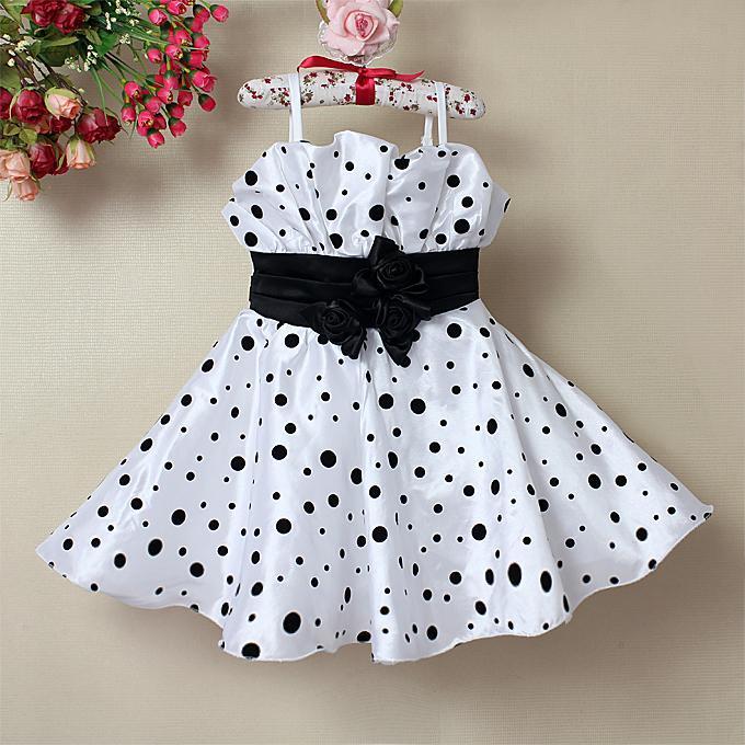 53fc8683441 2014 Детские белые платья в горошек для девочек-Платья для девочек ...