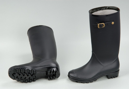 anti slip shoes cover one time injection rain boots pvc rain gum boots