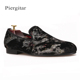 Piergitar 2018 New Colorful Prints Designs Men Slip on Shoes Fashion Party and Club Men's Loafers