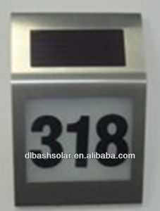 small hot selling solar house number light