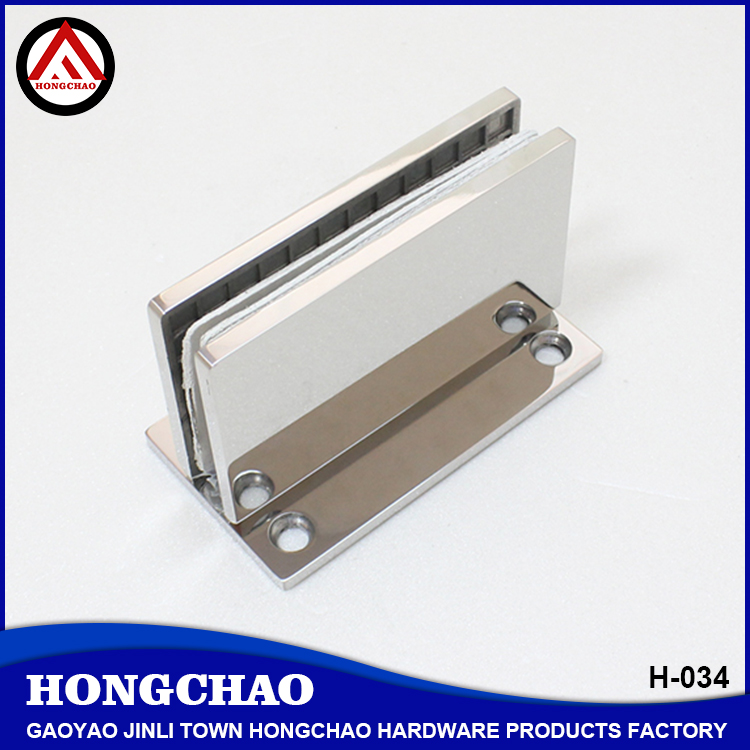Zhaoqing Gaoyao factory price bathroom glass door hardware, wall to glass hinge
