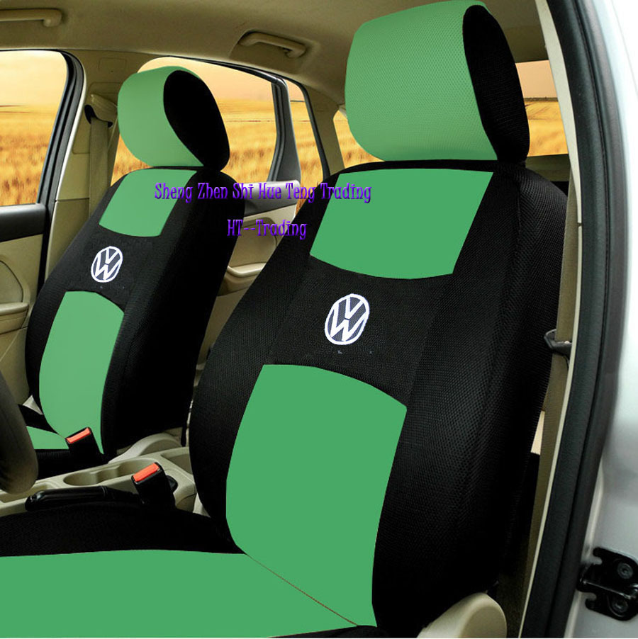 2 Front Seats Universal Car Seat Covers For Volkswagen Vw