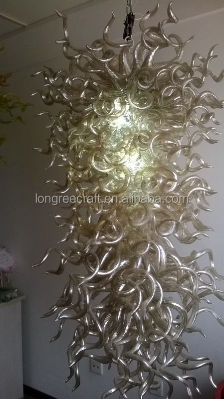 Contemporary Large Handmade Blown Glass Chandelier Lighting LED Chihuly Chandelier and Pendant Light