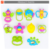 Hot sale non-toxic plastic baby shaking bell baby sway bell toy set with CE
