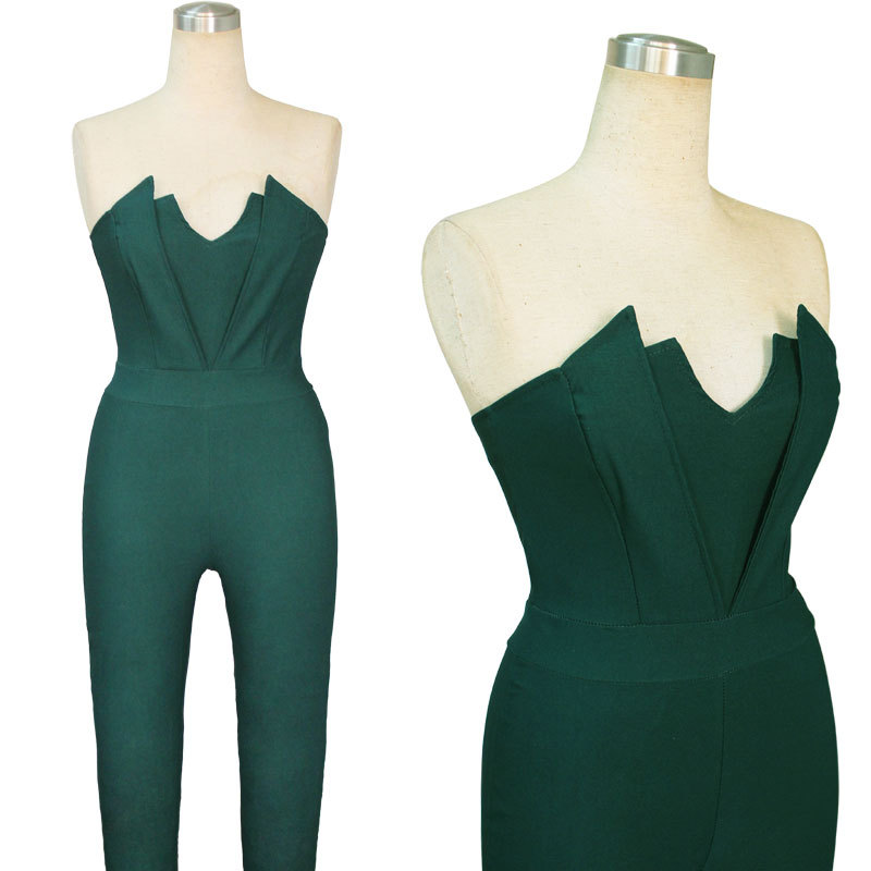 Popular Green Strapless Bodysuit Buy Cheap Green Strapless