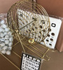 LKND Metal Bingo Game Cage with plastic bingo balls