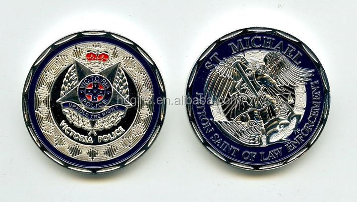FREE artwork design and shipping brass hard enamel Victoria St Michael Coins