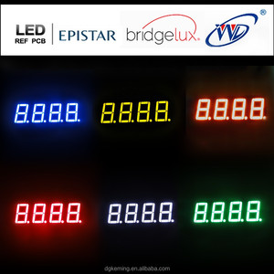 KEM-5641-BSR 4 numbers quad digit 7 segment led sign