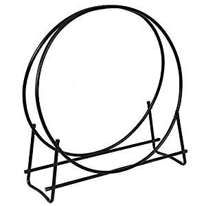 40-Inch Tubular Steel Log Hoop Storage Rack Holder Round Display New TKT-11