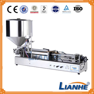 Semi automatic filler machine, double heads piston liquid filling machine for shampoo