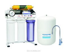 CALUX  50GPD 75GPD 5 stageRO water filter system  with UV light