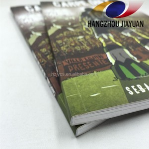 Cheap book printing service full coloring soft cover handbook
